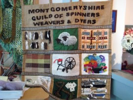 Montgomeryshire Guild of Spinners, Weavers and Dyers stall