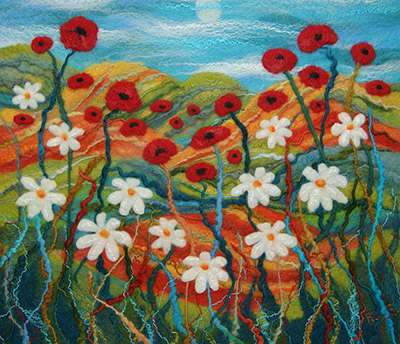 Poppies and daisies by Ali Scott