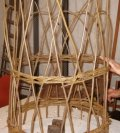willow plant support made by Beryl Smith