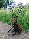 willow hare made by Mel Bastier