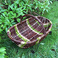 willow trug made by Mel Bastier
