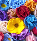 felt flowers made by Sarah Fisher