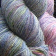 hanks of dyed wool