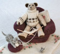 Olwen Veevers' needlefelt bear